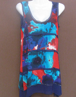 Отдается в дар Платье 38 размер летнее синее-цветное.