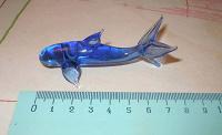 Отдается в дар Дельфин стеклянный синий 8 см