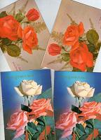 Отдается в дар Чистые двойные открытки с цветами