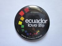 Отдается в дар Значок из Эквадора «ECUADOR LOVE LIFE»