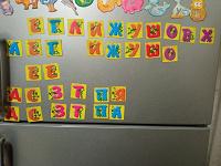 Магнитики буквы из Растишки