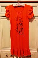Отдается в дар Платье оранжевое с птичками