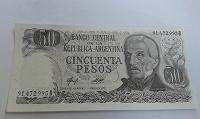 Отдается в дар 50 песо Аргентины.