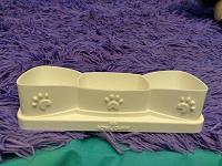 Отдается в дар Кошачья миска для трёх блюд (для котят)