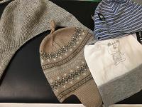 Отдается в дар Фирменные шапочки на малышей