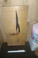 Отдается в дар Картина интерьерная деревянная