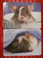 Отдается в дар Календарики с милыми крысками