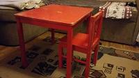 Отдается в дар Стол и стул Икея