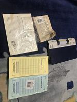 Отдается в дар Визитница новая, ресторанный счёт, товарный чек, приходной кассовый ордер