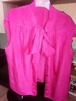 Отдается в дар Малиновая блуза без рукавов с бантом