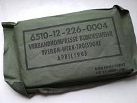 Отдается в дар Военный перевязочный компресс. Германия, 1963.