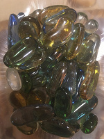 Отдается в дар Стеклянные декоративные камни