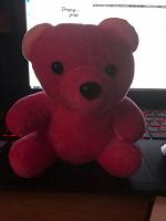 Отдается в дар Розовый мишка из автоматов