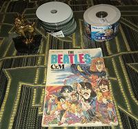 Отдается в дар СД-Диски, металлическая статуэтка, журнал посвящённый группе «Битлз»