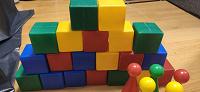 Отдается в дар Кубики детские и минибоулинг