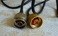 Отдается в дар Пара экранированных кабелей с резьбовыми контактами