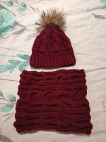 Отдается в дар Комплект шапка + снуд