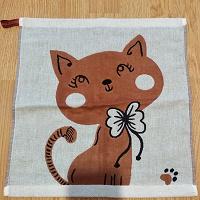 Кухонное полотенце с котиком