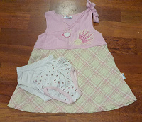 Отдается в дар Платье и трусики на малышку 6-9 мес