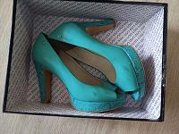 Отдается в дар Туфли на каблуке женские Antonio Biaggi бирюзовые 38 размер на лето