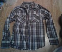Отдается в дар Рубашка в клетку 9-10 лет 140 см