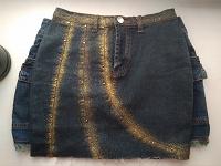 Отдается в дар Джинсовая юбка с блестками