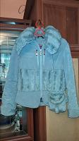 Отдается в дар Голубая женская куртка 42-44