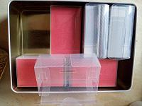 Отдается в дар Пластиковые коробочки от визиток