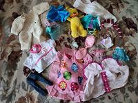 Отдается в дар Одежда для кукол, ванночка, раскраски