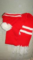 Отдается в дар Комплект детский красный ( шапка и шарф)