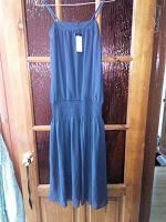 Отдается в дар Новое европейское синее шифоновое платье размер XL