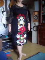 Отдается в дар платье из гипюра 48-50р-р