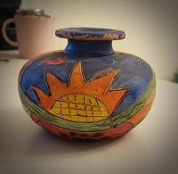 Отдается в дар Ваза глиняна