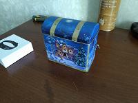 Отдается в дар музыкальная шкатулка коробочка для новогоднего подарка из под чая