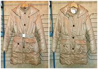Отдается в дар Бежево-золотистая курточка М(44)