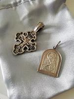 Отдается в дар Образок и крест серебро