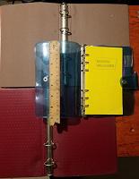 Отдается в дар скоросшиватель механизм с обложкой для рукодельного блокнота