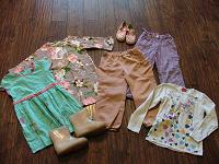 Отдается в дар Одежда для девочек от 4 до 12 лет