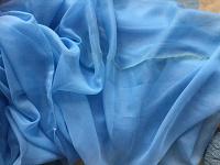 Отдается в дар Тюль голубая