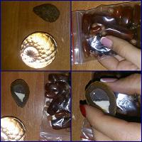 Отдается в дар Натуральные камни + шар = новогодний дар (: