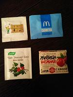 Отдается в дар Влажные салфетки и пакетик чая в коллекцию