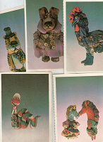 Отдается в дар Комплект открыток с восточными знаками зодиака