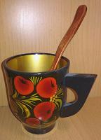 Отдается в дар Деревянные чашка и ложечка