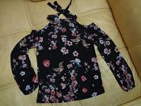 Отдается в дар блузка с бантиком и открытыми плечами Mohito