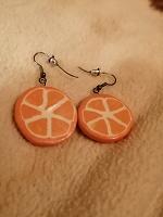 Отдается в дар Серьги-апельсинки