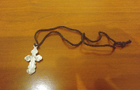 Отдается в дар Крестик старинный оловянный