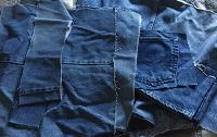 Отдается в дар Джинсовые обрезки и джинсы