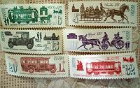 Отдается в дар почтовые марки с видами транспорта