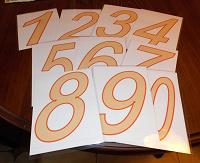 Отдается в дар Карточки с цифрами 1-10