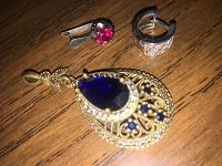 Отдается в дар Потеряшки кулон и серьги серебро 925